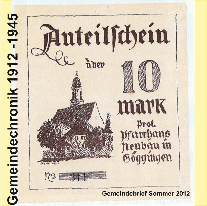 Gemeindechronik 1912 - 1945