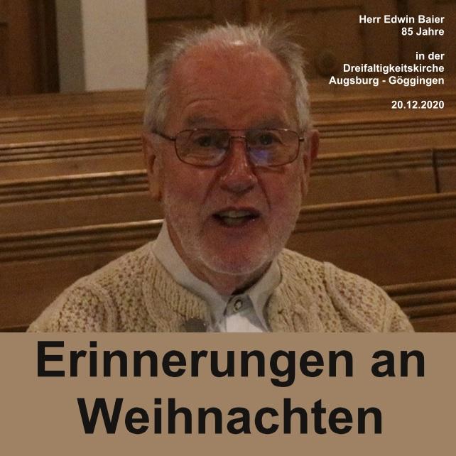 Herr Edwin Baier, Dezember 2020