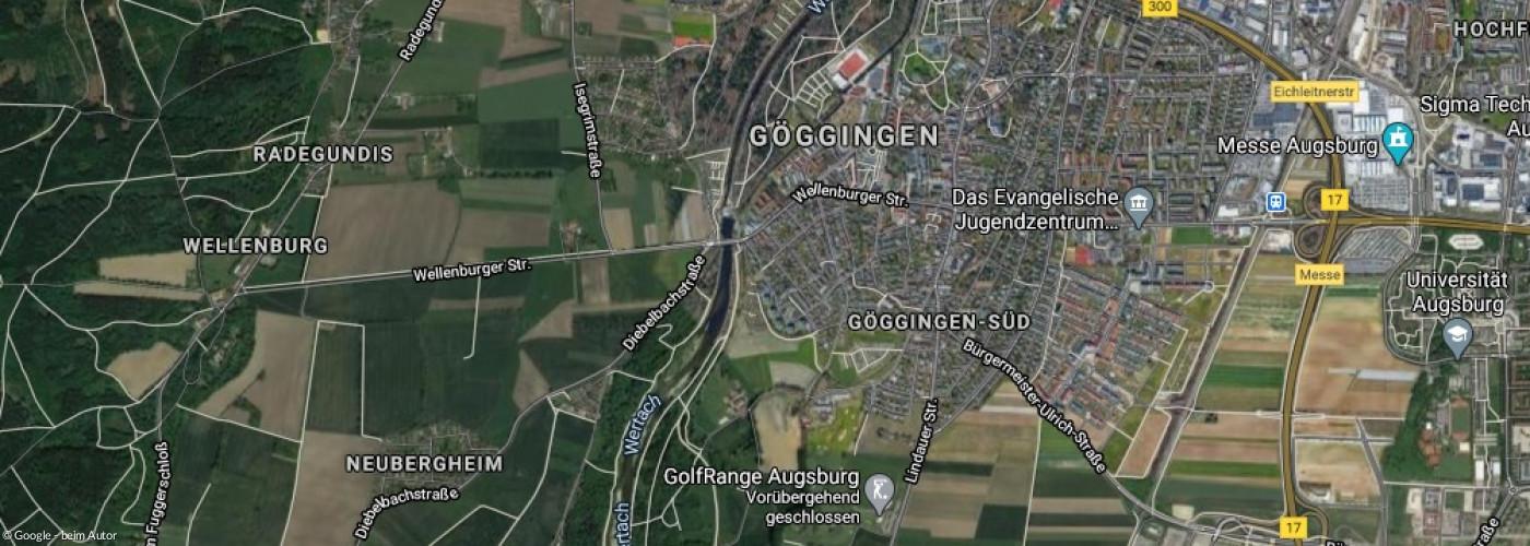 Luftbild Göggingen - Bergheim - Inningen - Leitershofen